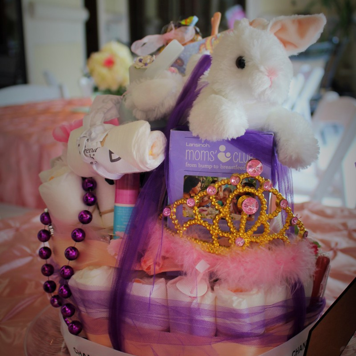 Erica Rose Baby Shower, June 2016, Diaper cake