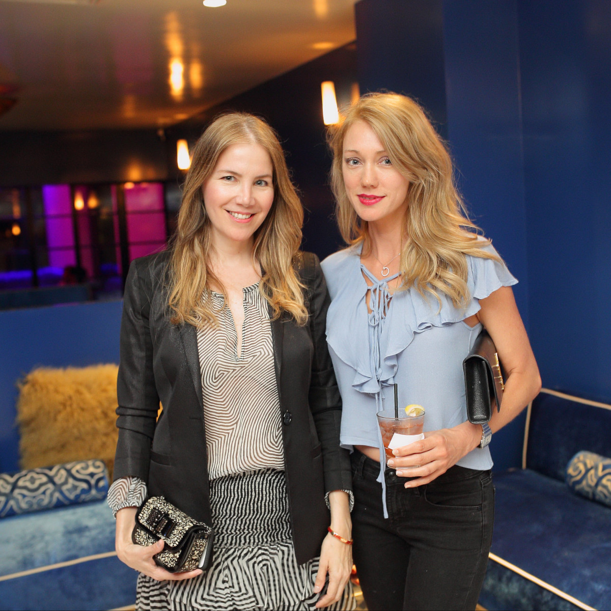 Bar Bleu opening, 6/16, Lilian Rendon, Leslie Sharp