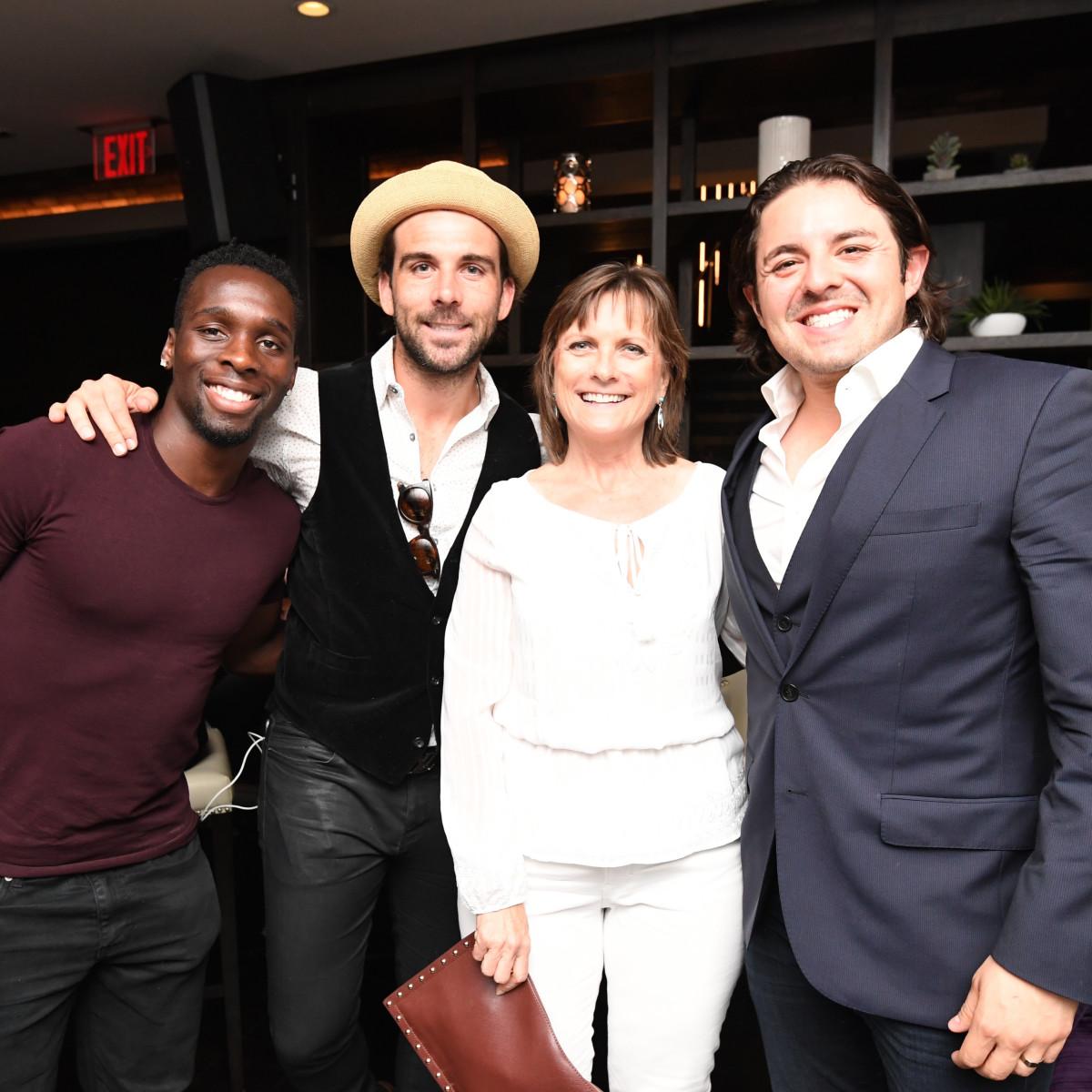 Steak 48 Opening dinners, 6/16, Chijioke Akujuobi, Michael Chabala, Lori Chabala, Rafael Martinez.