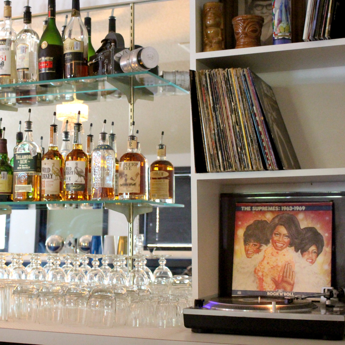 Kitty Cohen's Austin bar vinyl
