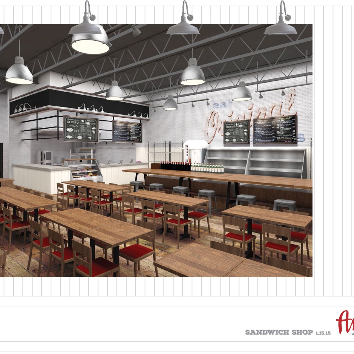 Antone's Po Boys restaurant rendering