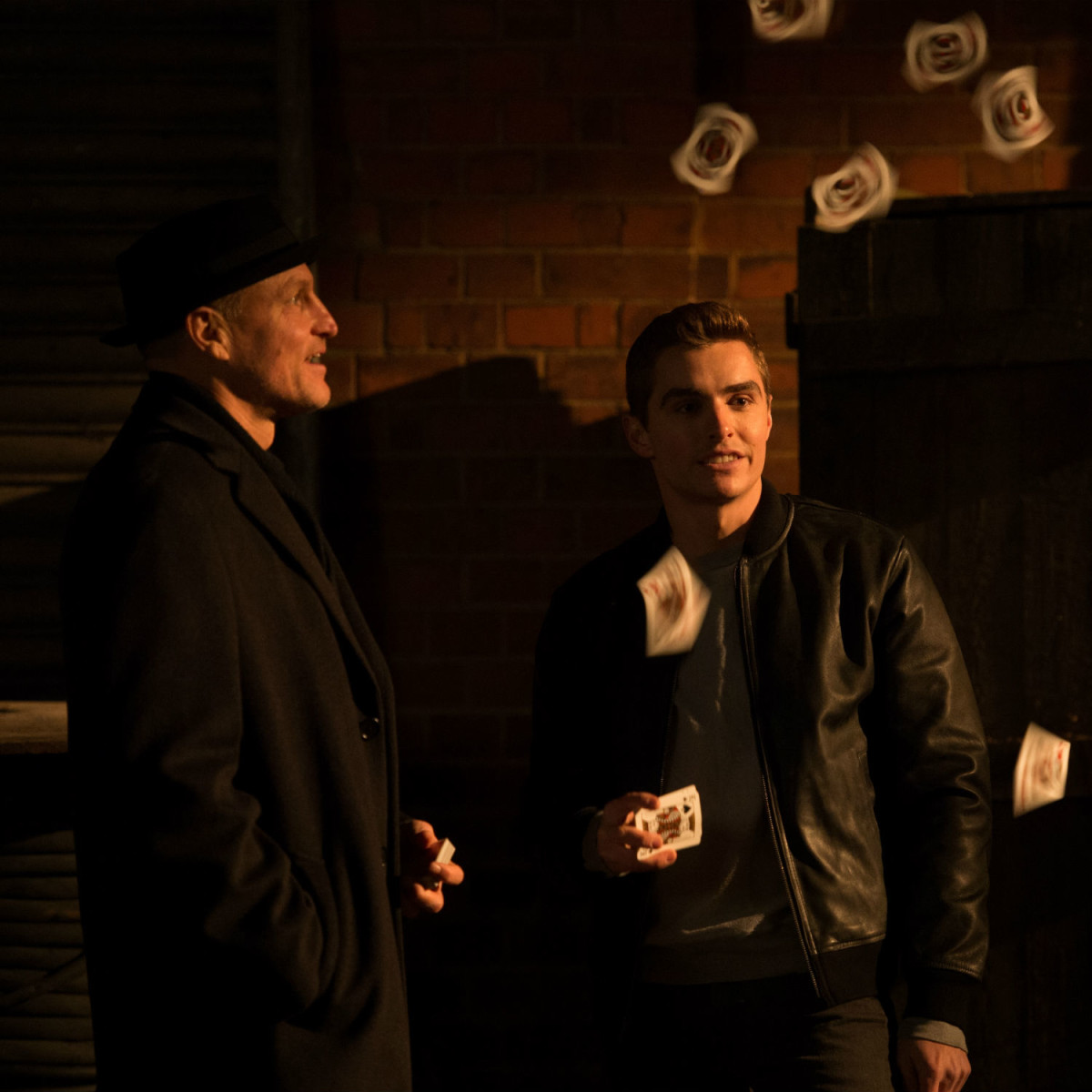 Woody Harrelson and Dave Franco in Now You See Me 2