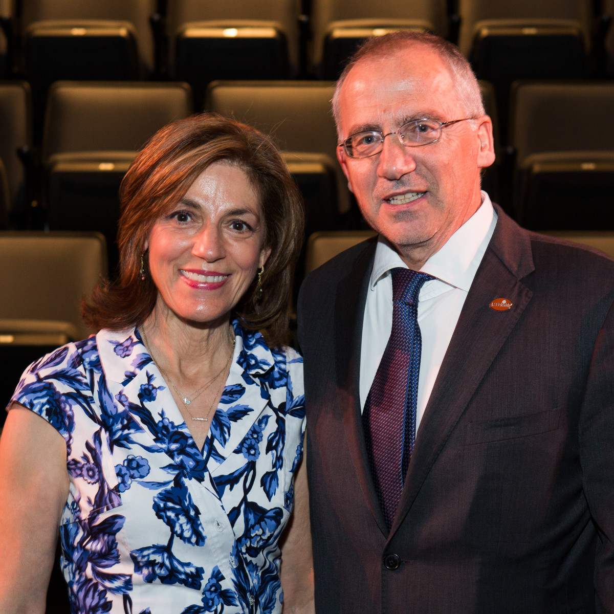 Maria Pappas and Giuseppe N. Colasurdo at UTHealth Live