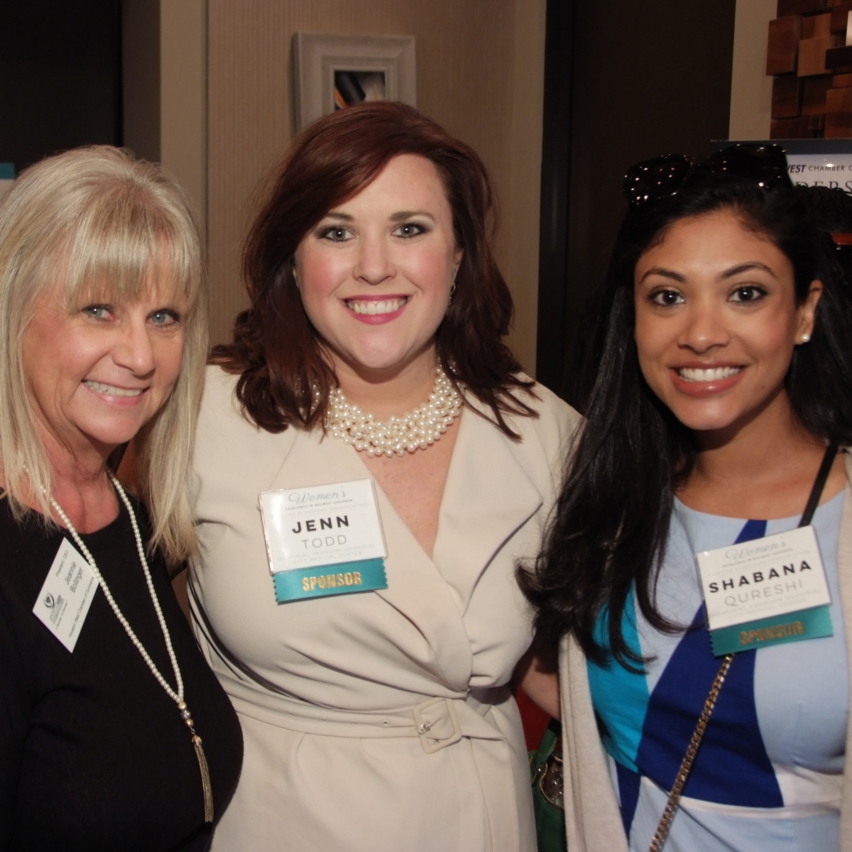 Houston, Women's Excellence in Business Series Luncheon, May 2016, Jeannie Bollinger, Jenn Todd, Shabana Quershi