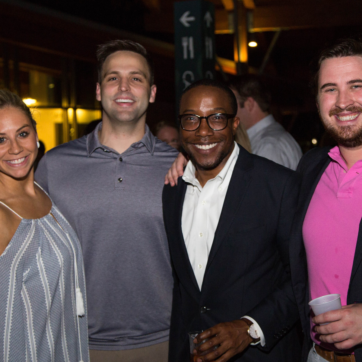 Courtney Rosen, John Kovach, Arthur Bryan II, Andrew Scheller at Urban Green Overboard party