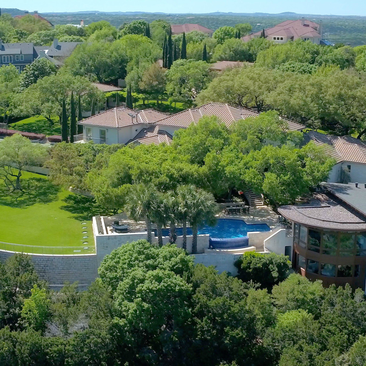 Austin house home 101 Pascal Lane Weslake Rob Roy neighborhood aerial