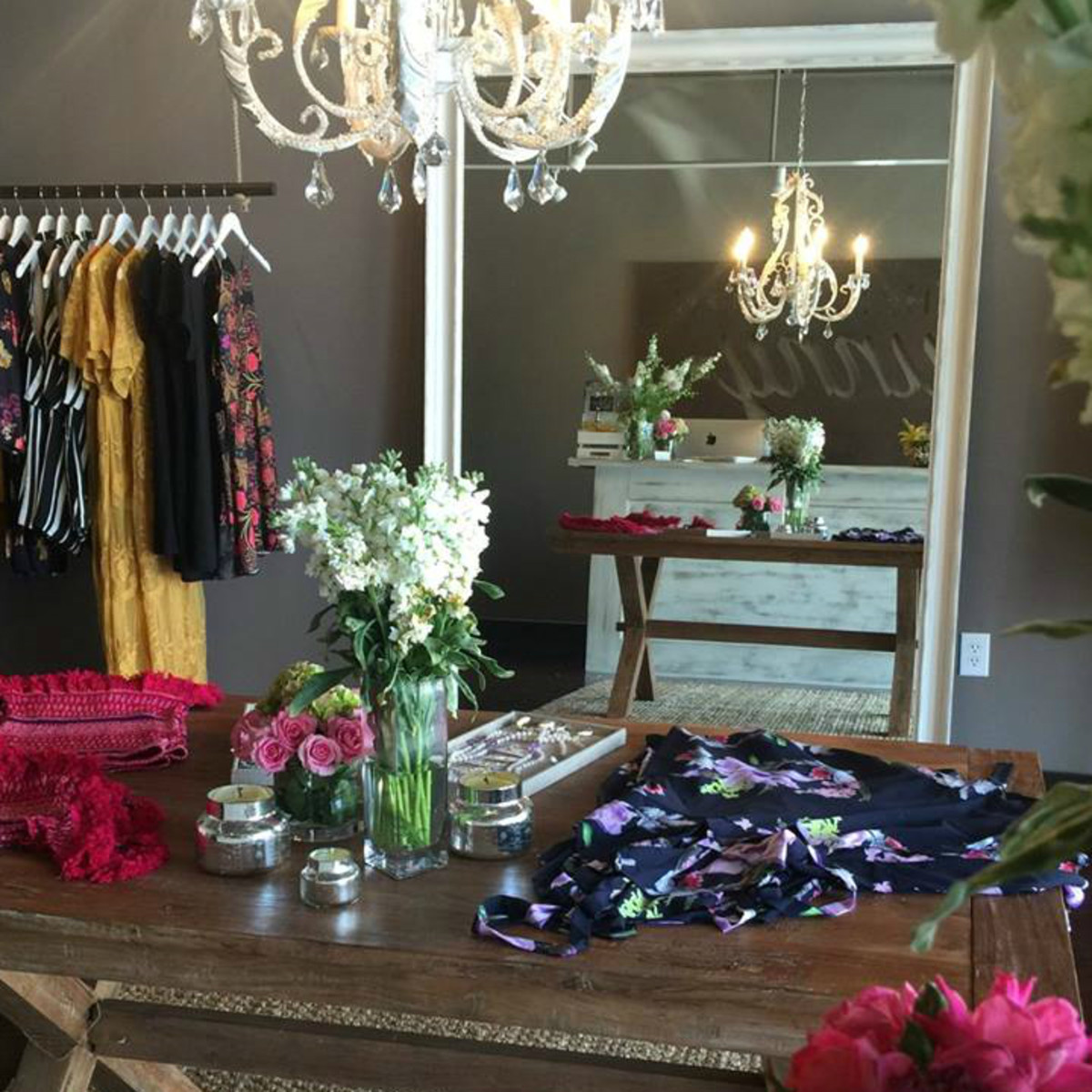 The Southern Bunny San Antonio shop interior dresses