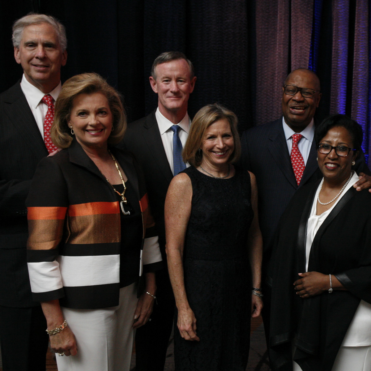 Texas Children's Cancer Center dinner, 5/16 Jim Gordon, Nancy Gordon, Chancellor William H. McRaven, Georgeann McRaven, Jodie Jiles, Sonny Jiles.