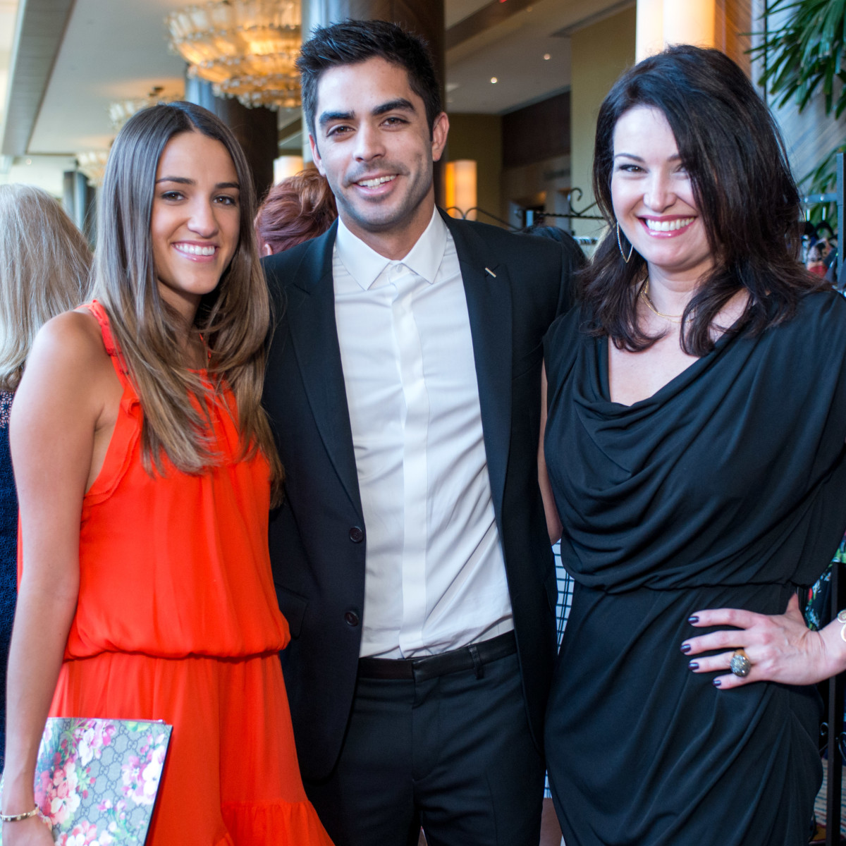 Latin Women's Initiative luncheon 5/16,  Gaby Alvarez, Jonathan Barbieri, Claudia Labao.