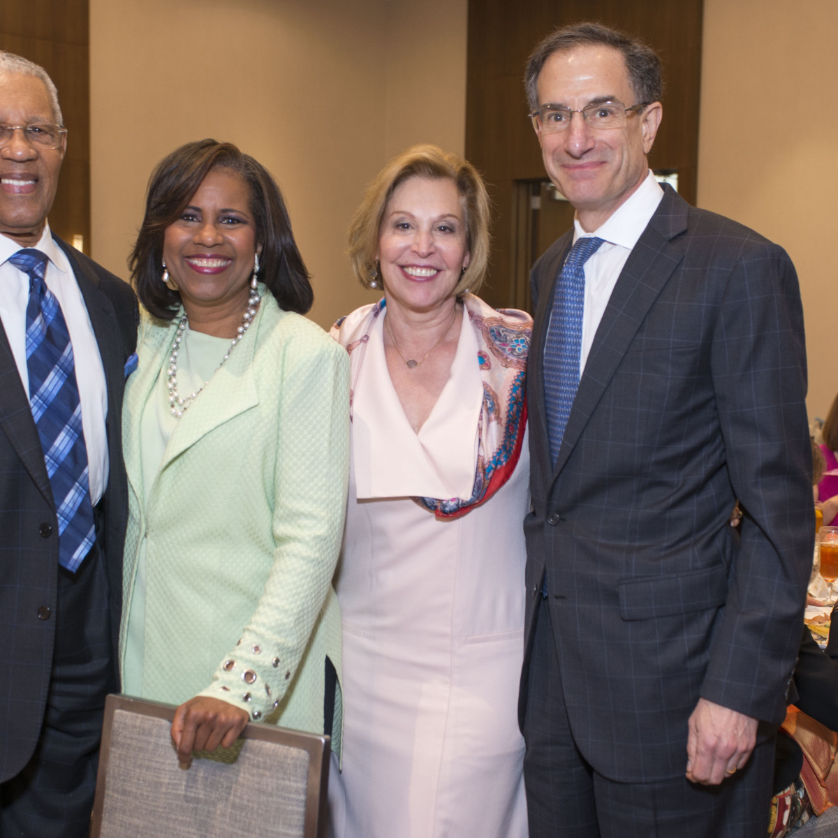 Houston, DePelchin Children's Center Families for Kids Luncheon, May 2016, Reverend Bill Lawson, Melanie Lawson, Doe Florsheim, Henry Florsheim