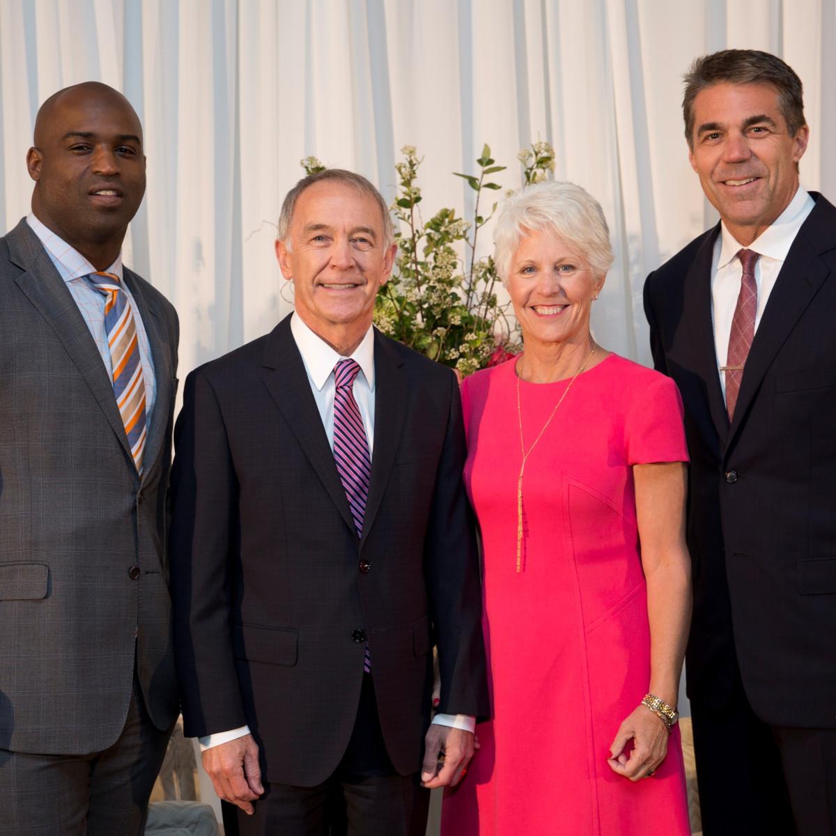Houston, Menninger Clinic Annual Luncheon, May 2016, Ricky Williams, Dr. C. Edward Coffey, Kathy Coffey, Chris Fowler