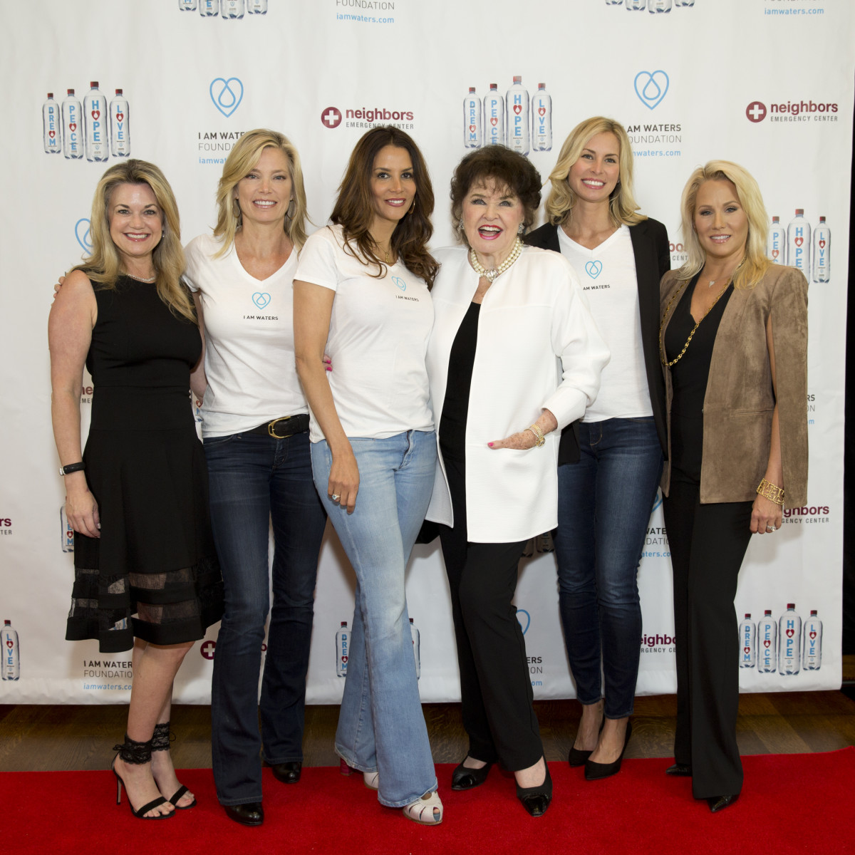 Houston, I Am Waters 5th Annual Supermodel Luncheon, May 2016, Millette Sherman, Kelly Emberg Kara Young, Warner Roberts, Niki Taylor, Jill Faucetta