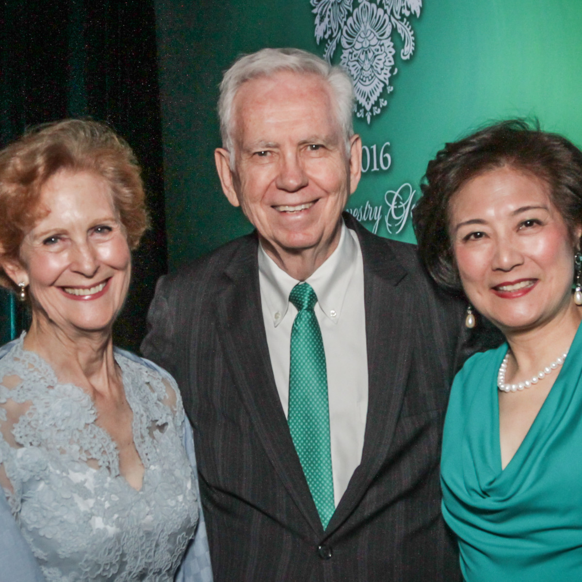 Tapestry gala, May 2016, Susan Baker, Charles Foster, Lily foster