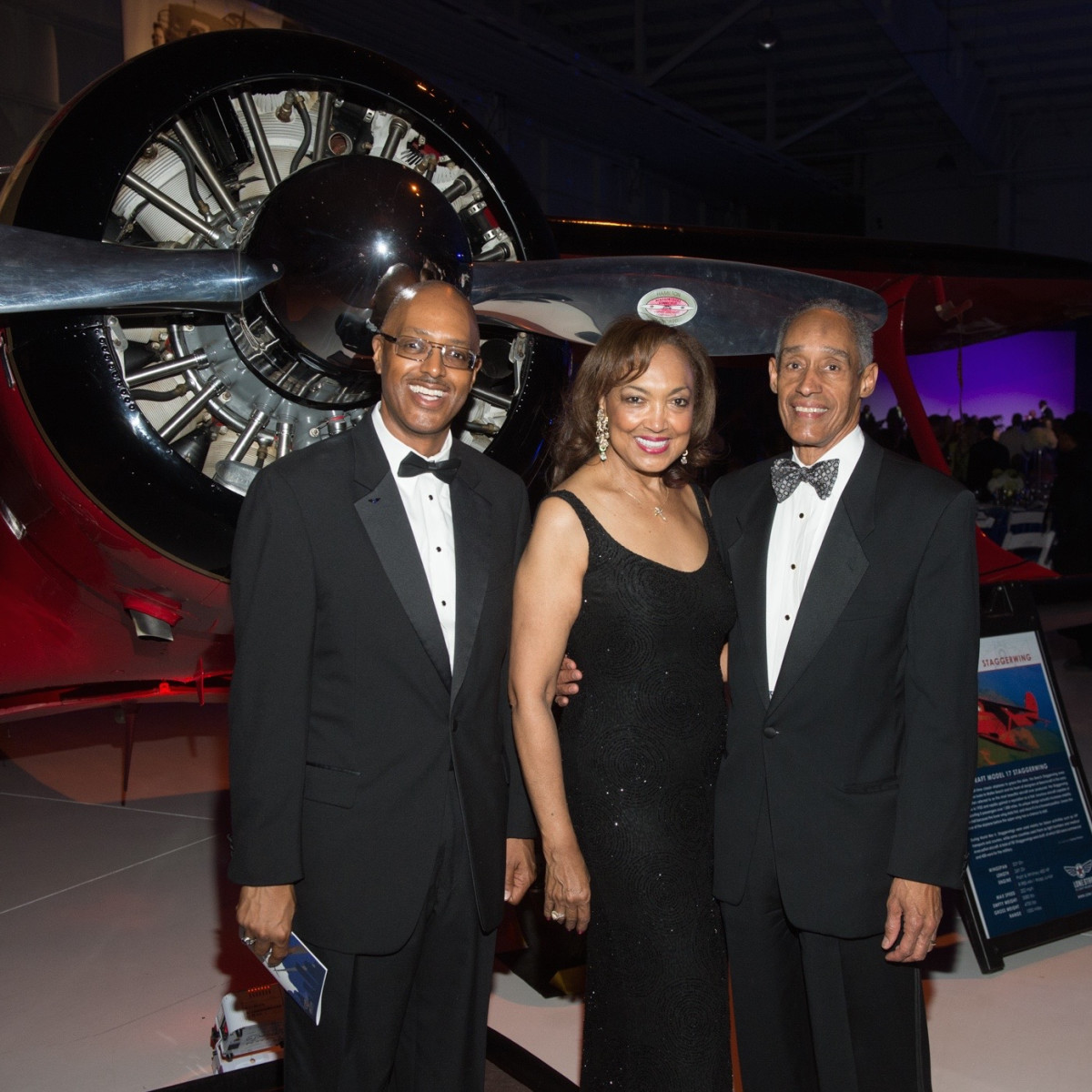 Lone Star Flight Museum gala 5/16 George Hanks, Angela Joubert, Cedric Joubert