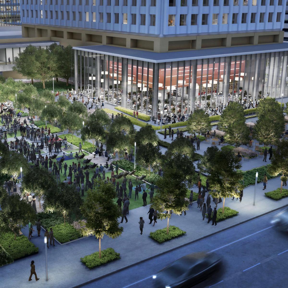 One Allen Center new green space