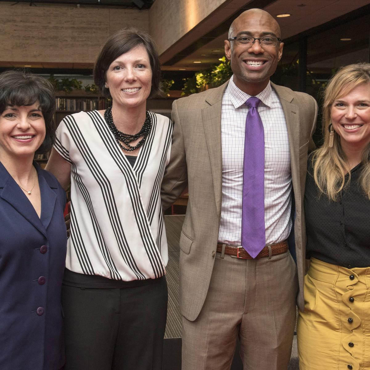 Women in Leadership luncheon LBJ Future Forum May 2016 Christi Craddick Jill Angelo Lemuel Williams Jessica Honegger