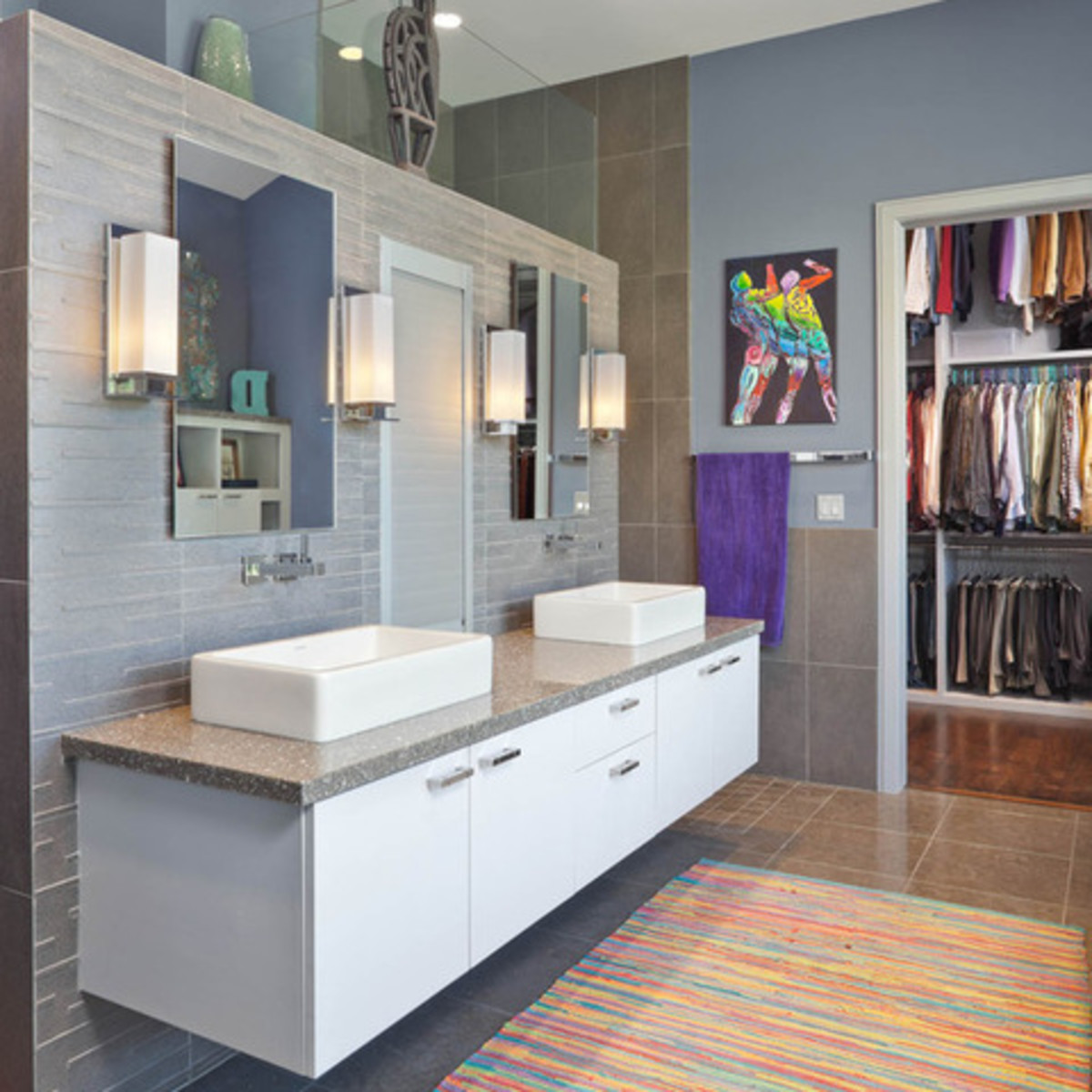 Houzz Houston Heights modern home tour bathroom