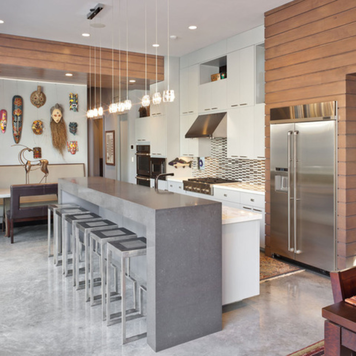 Houzz Houston Heights modern home tour kitchen