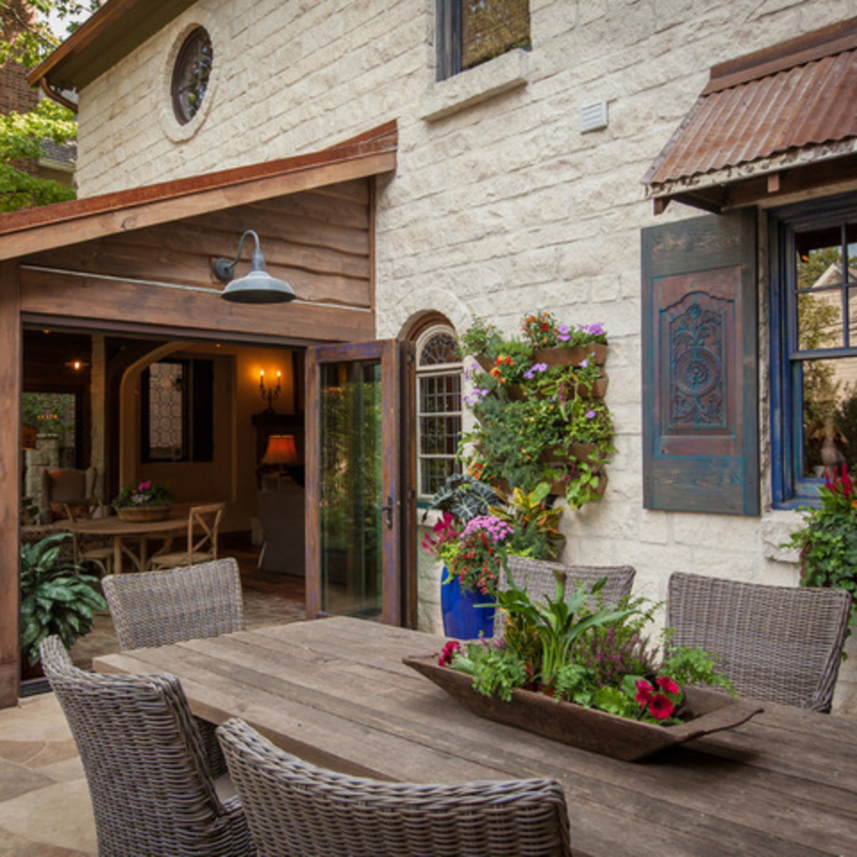 Dallas University Park home Houzz tour porch