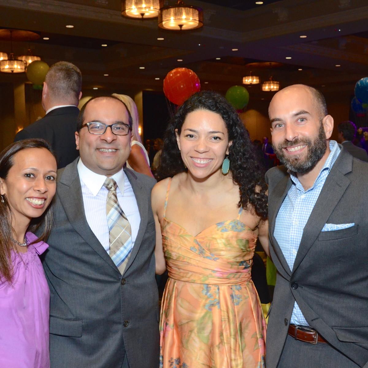 KIPP Houston dinner 4/16,Sehba Ali, Shehz Ali, Erica Dibella, MarkDiBella