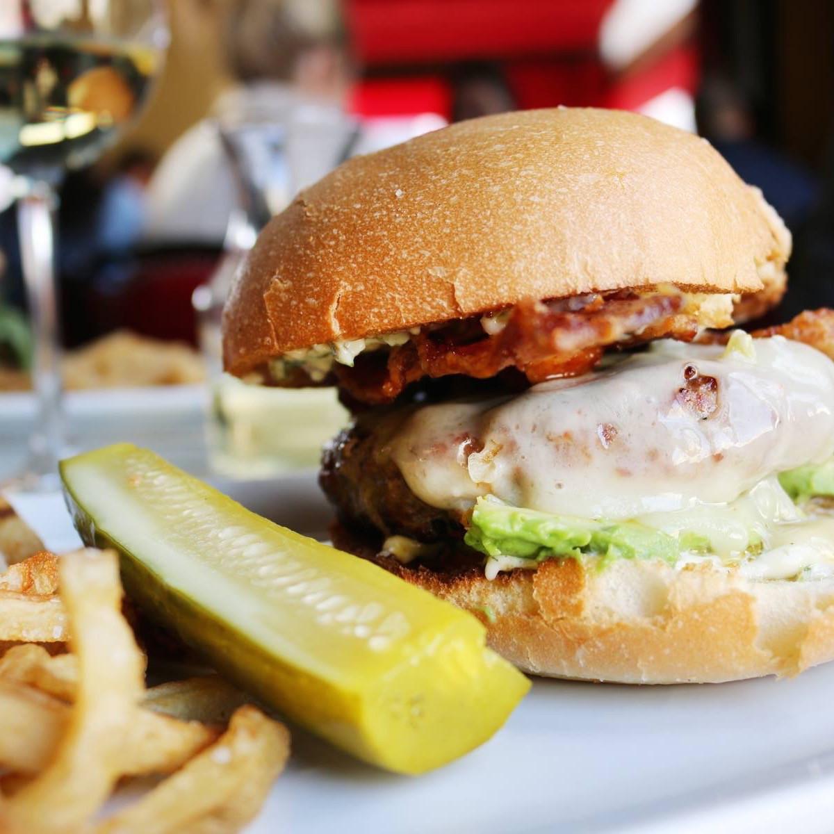 Toulouse Cafe River Oaks District burger