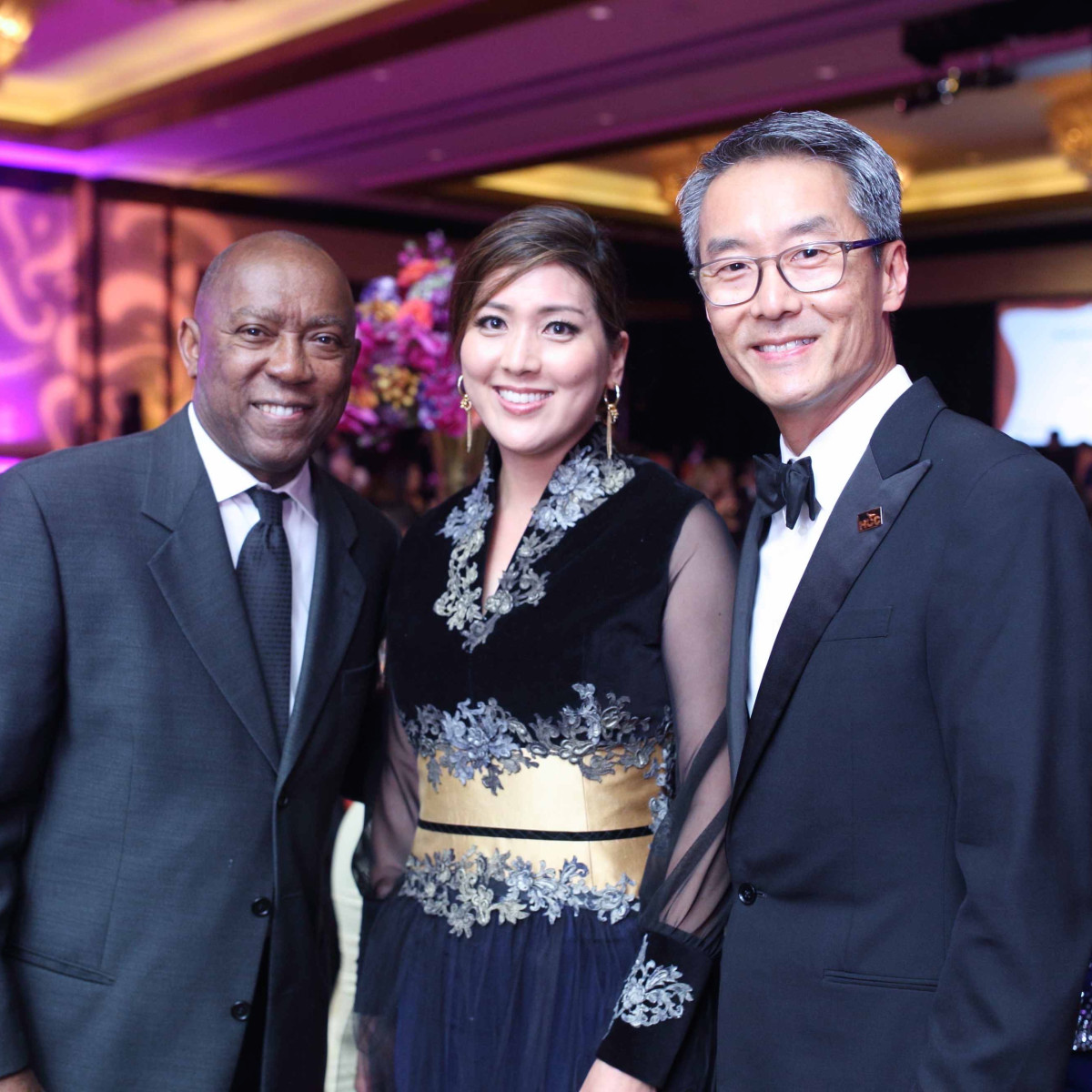 HCC Foundation gala 4/16, Mayor Sylvester Turner, Sue Sim, Randy Sim