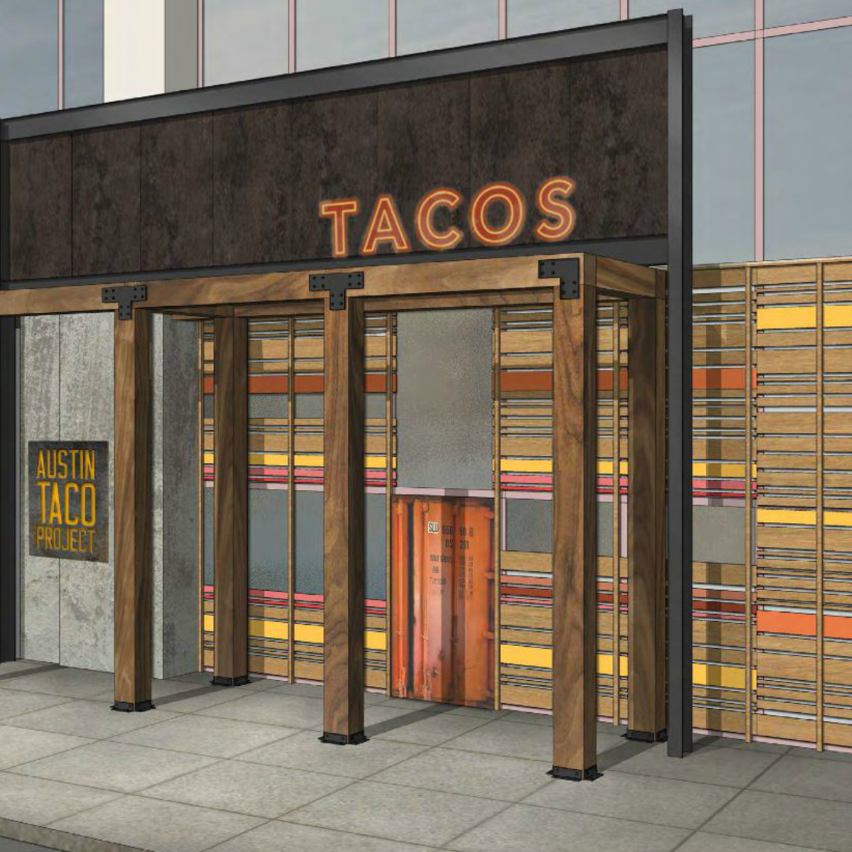 Hilton Austin downtown hotel 2016 renovation rendering Austin Taco Project exterior