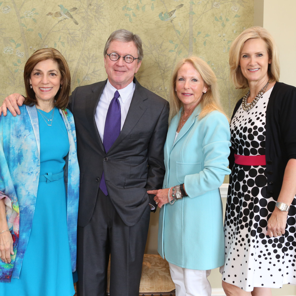 Partners Luncheon 4/16, Maria Pappas, Phil Ferguson, Kathy O'Neil and Kate Lucrezi.