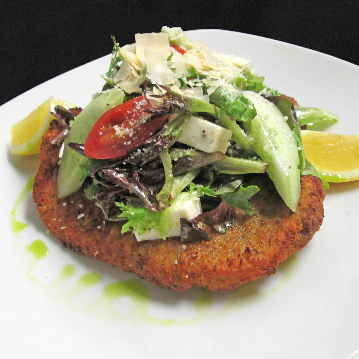 Woodlands American Grill chicken Milanese salad