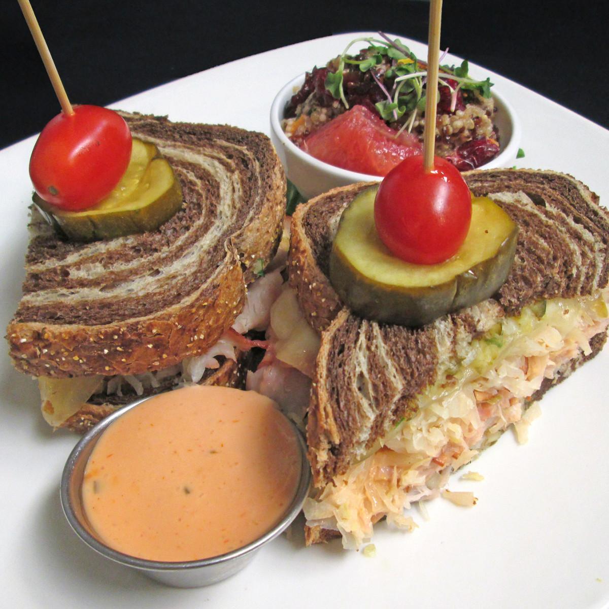Woodlands American Grill Rachel sandwich