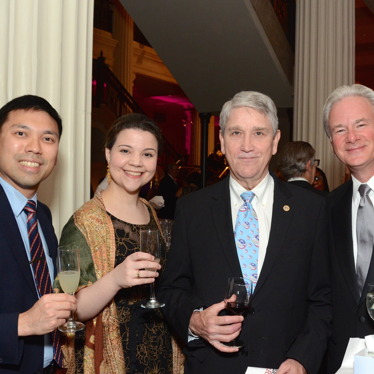 Children at Risk Gala, 4/2016, Wilson Lam, Claire Bocchini, Don Hartsell, and Stratton Horres.