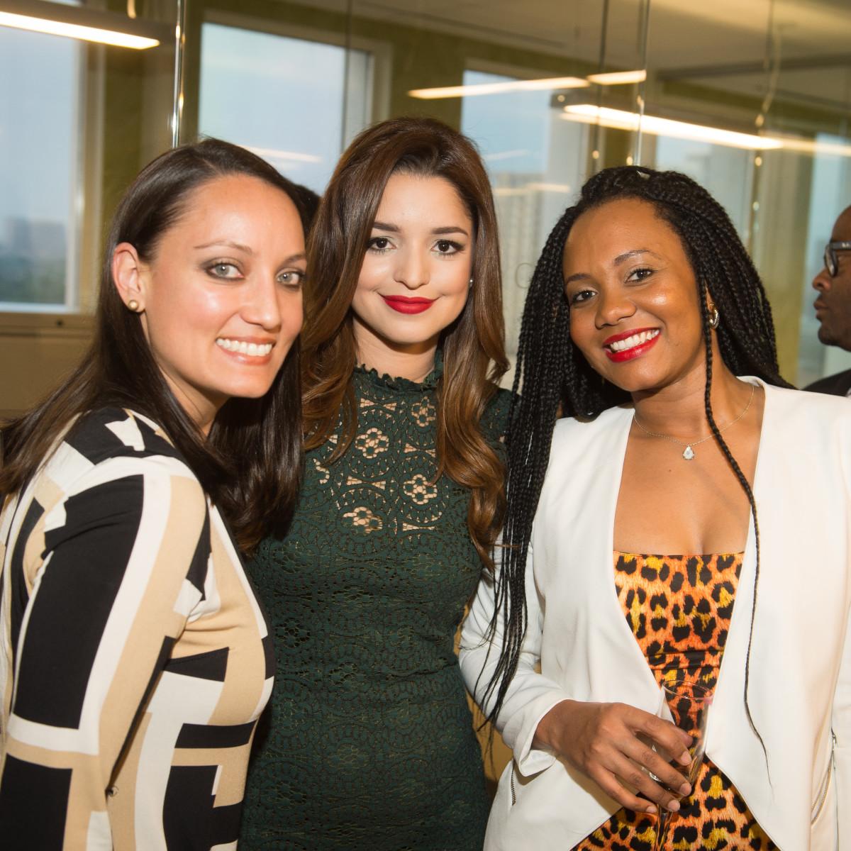 Carnan Properties Opening, April 2016, Consuelo Inestrosa, Vanessa Hughes,  Jessica Obaseki