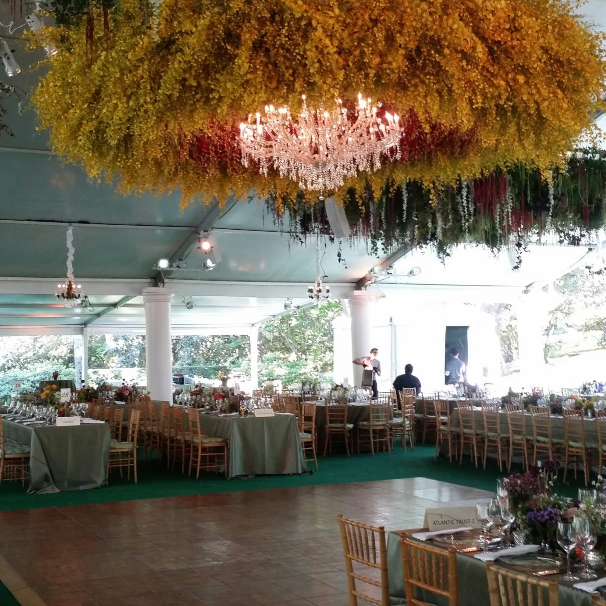 Bayou Bend Garden Party, April 2016, decor