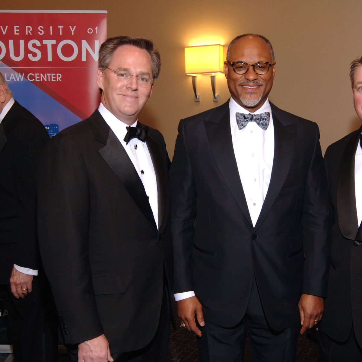 UH Law gala, April 2016, Warren Harris, Jarvis Hollingsworth, Richard Whiteley
