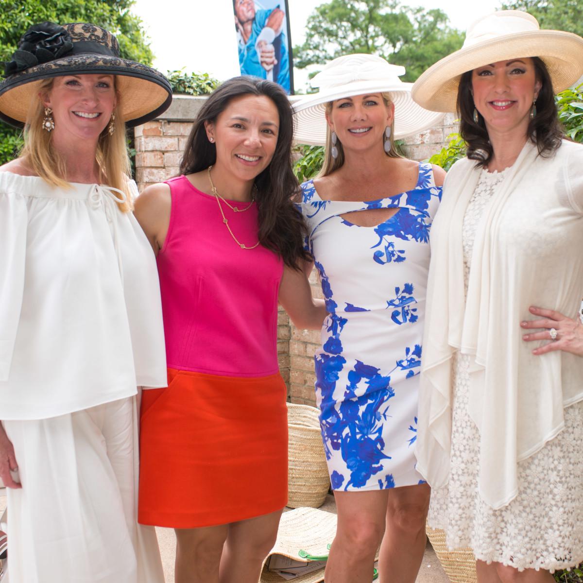 River Oaks Tennis Luncheon, April 2016, Kim Moody, Tracy Hale, Anne Carl, Alicia Smith