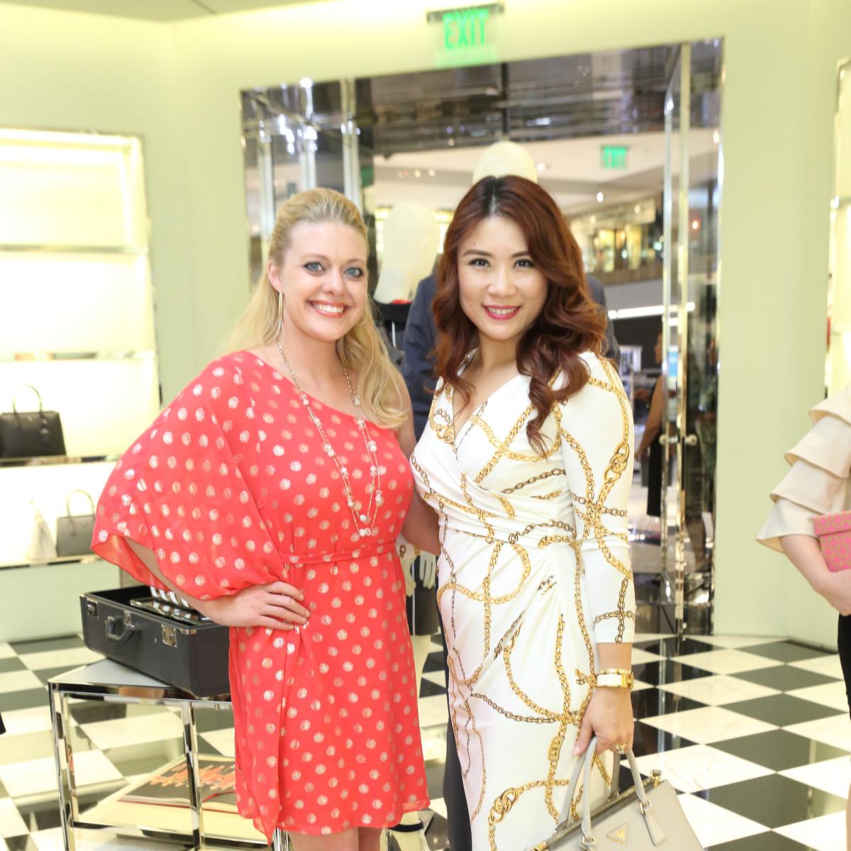 Tabitha Smith, Christina Zhou at APAHA kickoff party at Prada