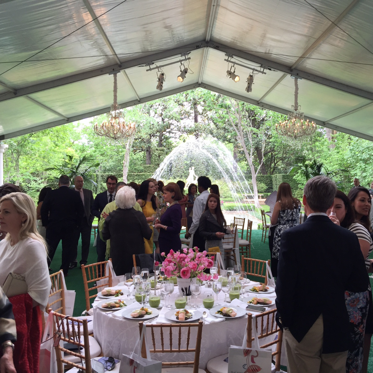 Bayou Bend Luncheon,  setting