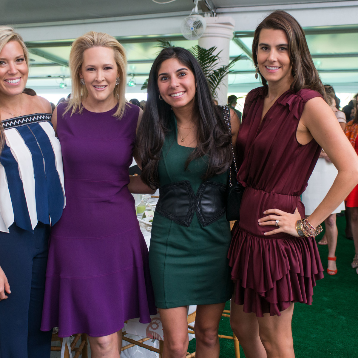 Bayou Bend luncheon, April 2016, Holly Alvis, Kelly Silvers, Mona Sabzevari, Kathryn Swain