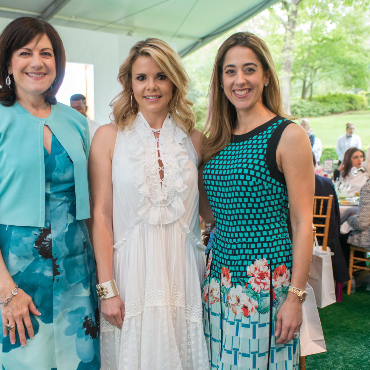 Bayou Bend luncheon, April 2016, Ellie Francisco, Reagan Bauer, Kristina Somerville