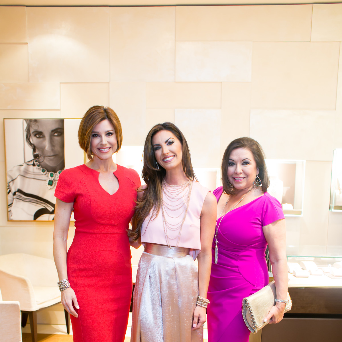 International Mothers' Day at Bulgari, March 2016, Dominique Sachse, Nicole O'Brien Lassiter, Debbie Festari