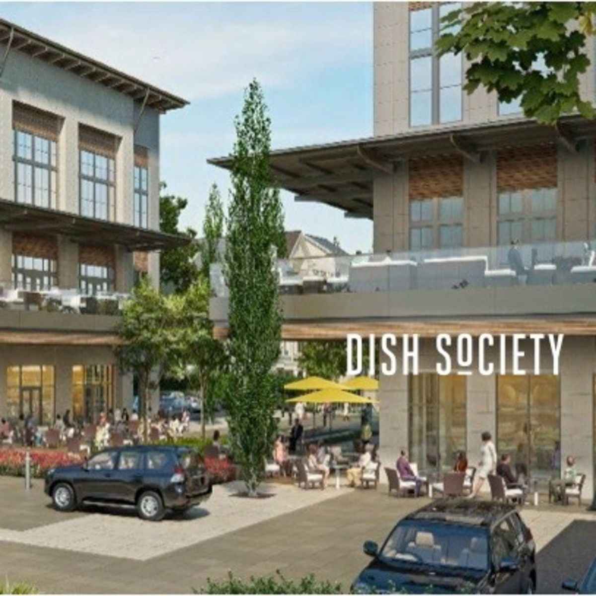 Dish Society Memorial Green rendering