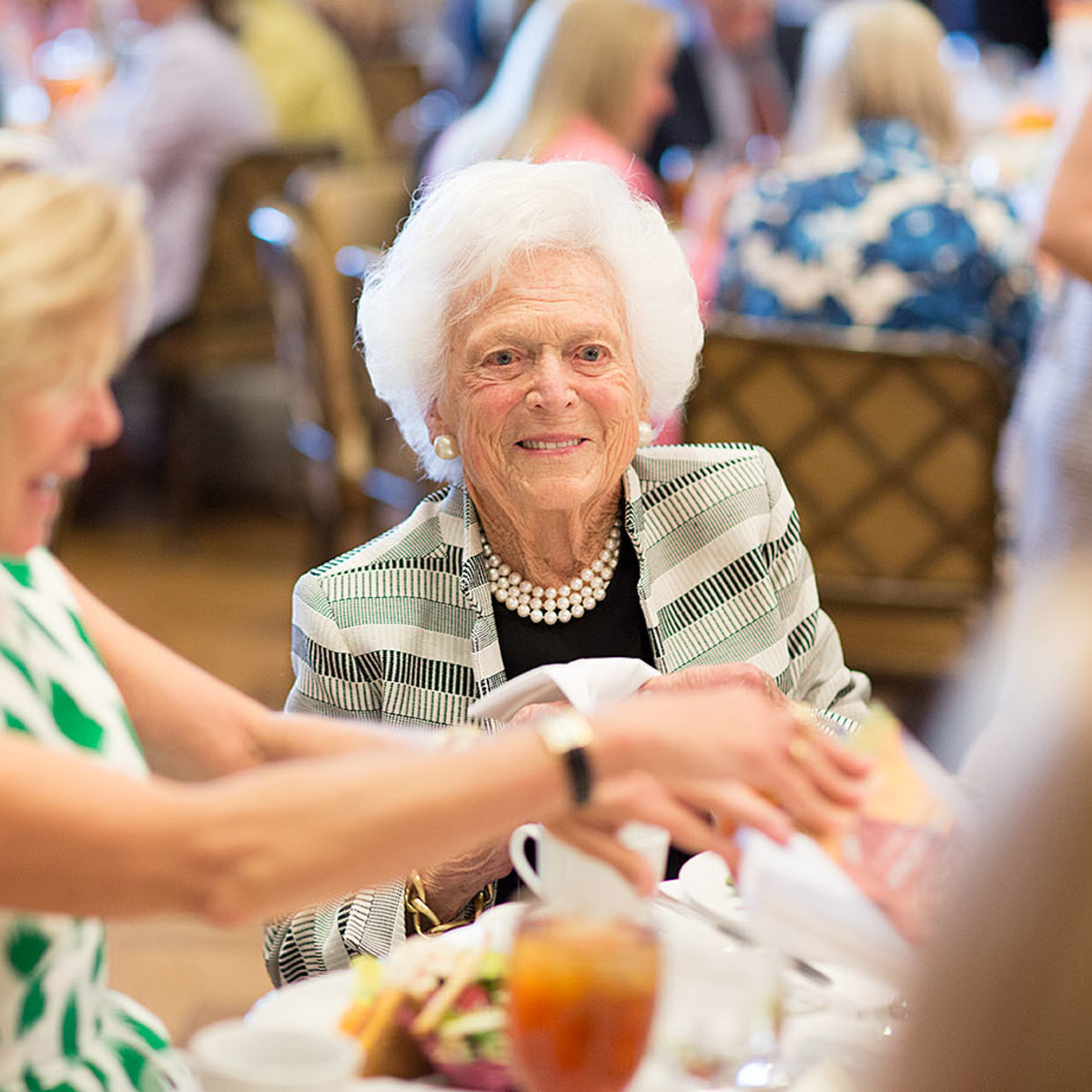 VEPS Luncheon, March 2016, Page Winstead, Barbara Bush,