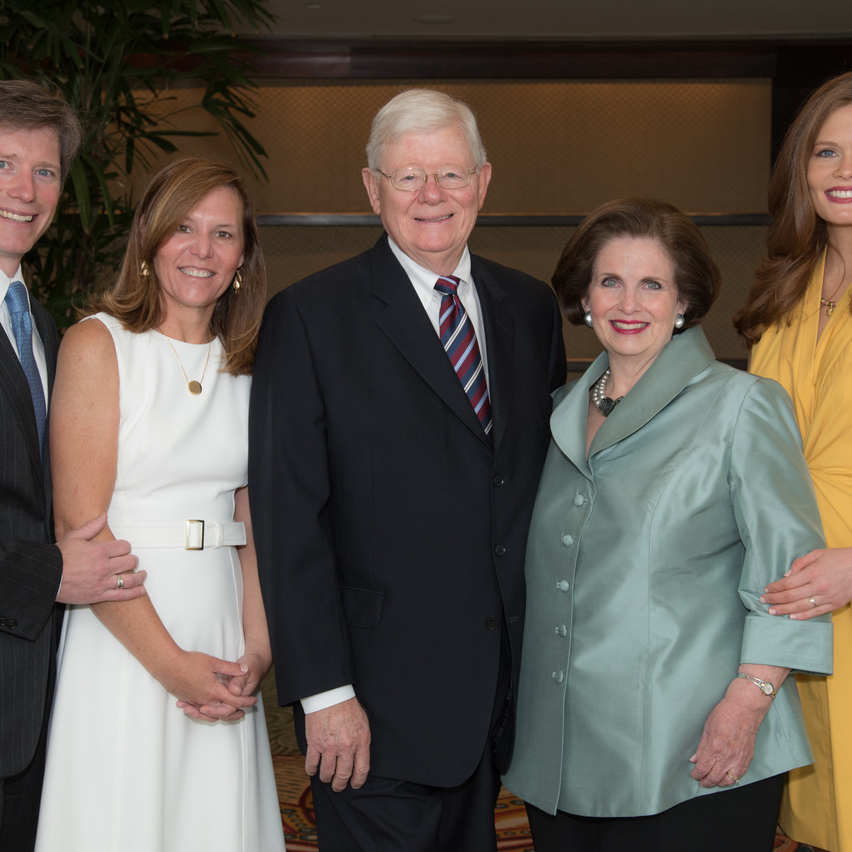 Center for Houston's Future luncheon,  March 2016,  Jonathan Frels, Layne Frels, Kelly Frels, Carmela Frels, Catherine Frels