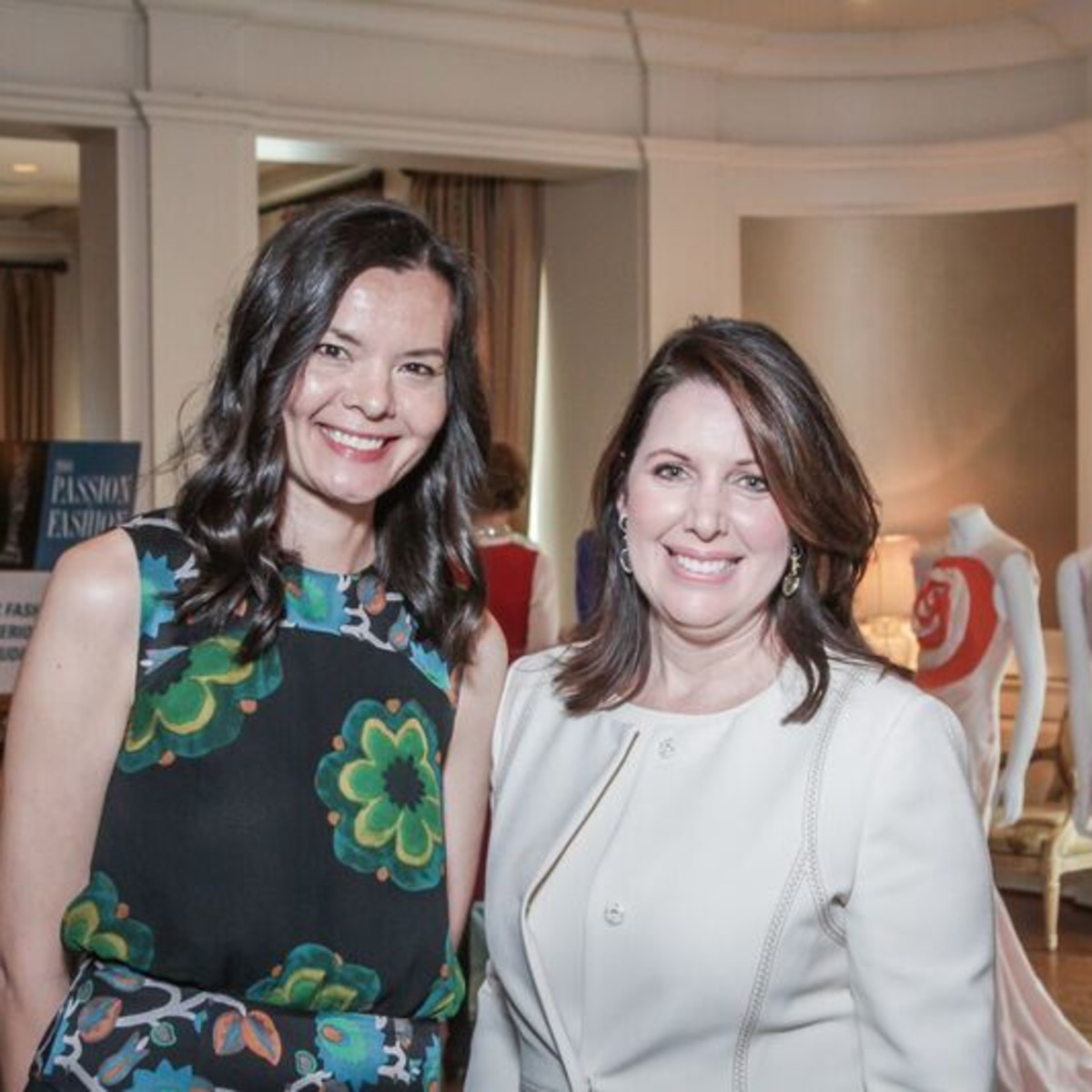 Jennifer Cunningham, Julie Roberts at Passion for Fashion luncheon