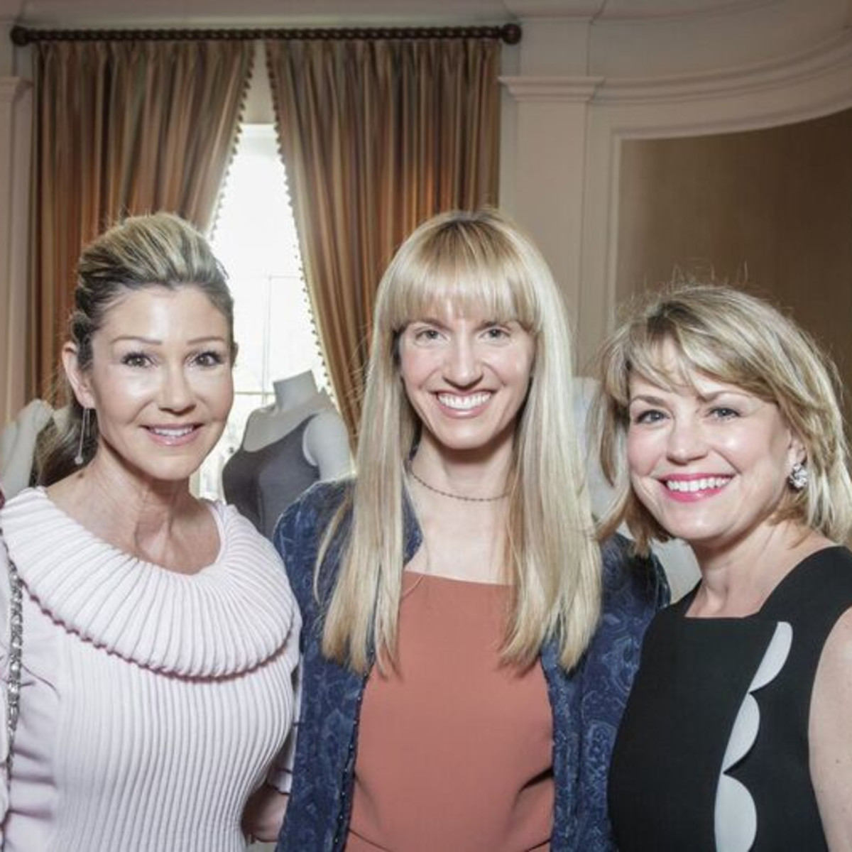 Patti Murphy, Chris Goins, Kelly Lubanko at Passion for Fashion luncheon