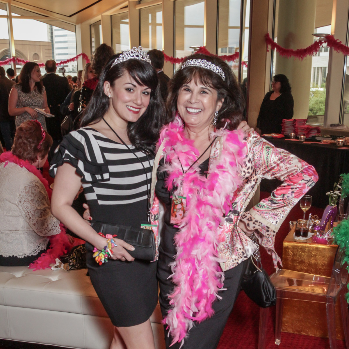 Caroline Millington, Grace Pendland at Sweet Potato Queens party