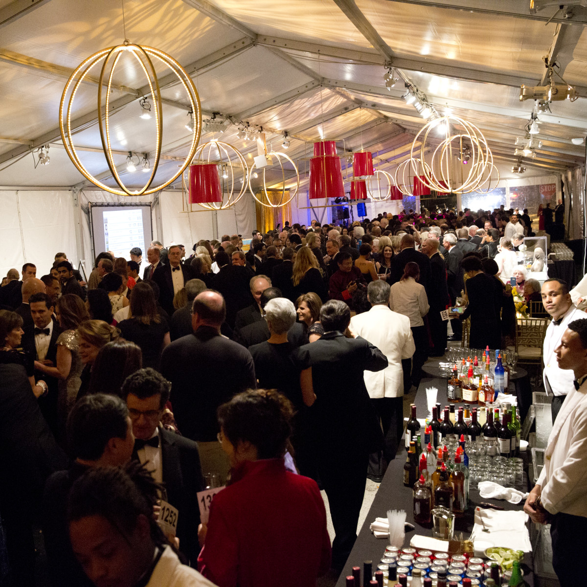 Asia Society Tiger Ball, March 2016, party tent