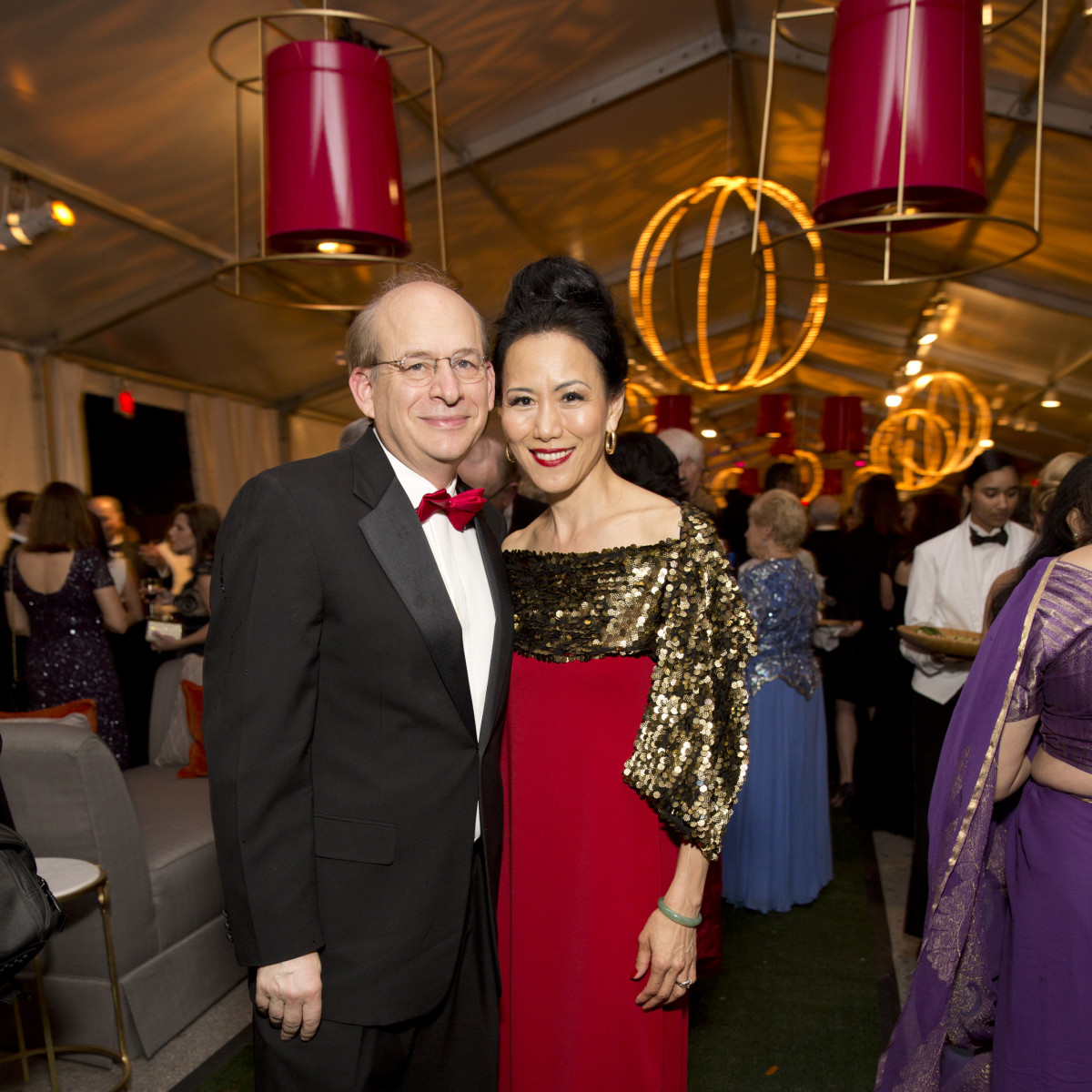 Asia Society Tiger Ball, March 2016, David Leebron, Y. Ping Sun