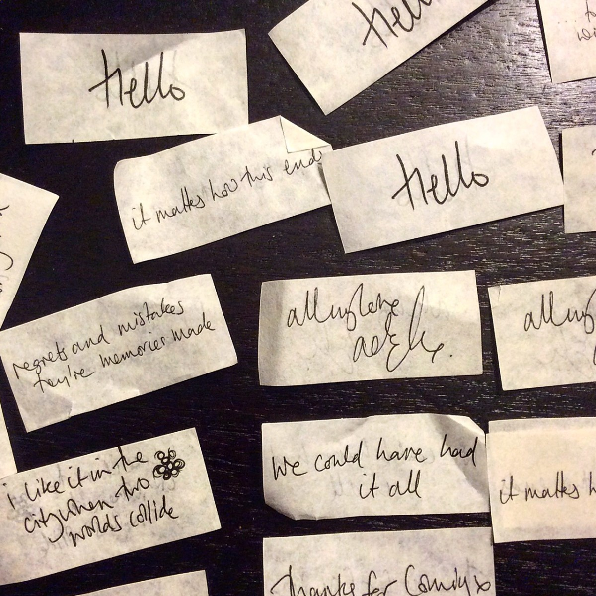 Adele confetti in London concert