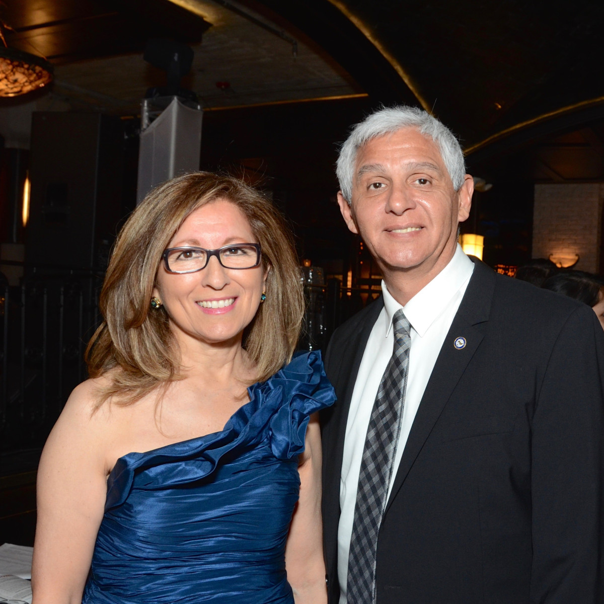 Evangelina Hammonds and Council Member Robert Gallegos at Stages Gala